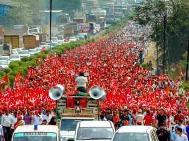 Mumbai farmers' protest: Devendra Fadnavis says govt is sensitive towards demands; Poonam Mahajan says agitation fuelled by 'urban Maoists'