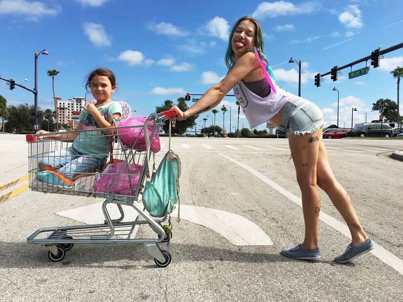 Still from The Florida Project
