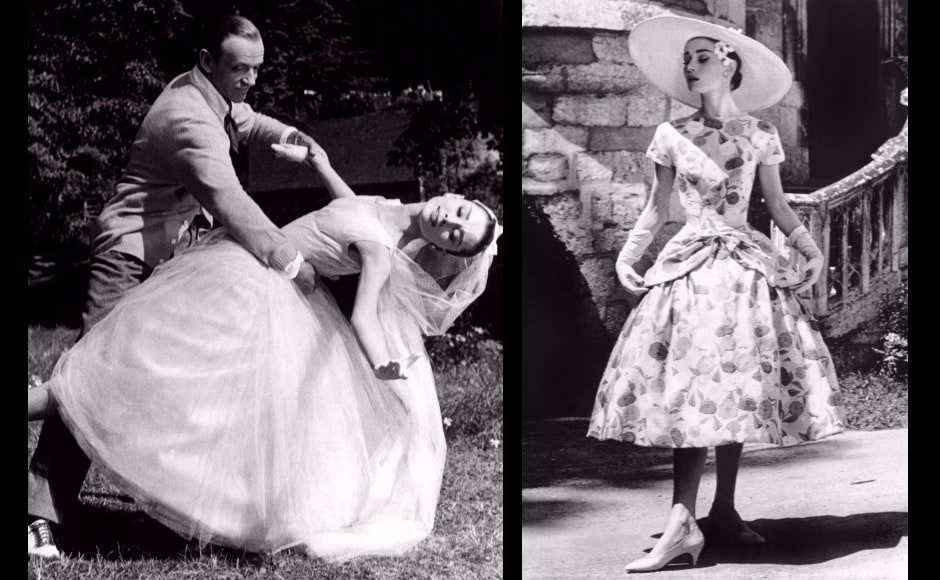 The Givenchy-Hepburn collaboration led to some distinctive looks in Funny Face, especially the dreamy wedding dress.
