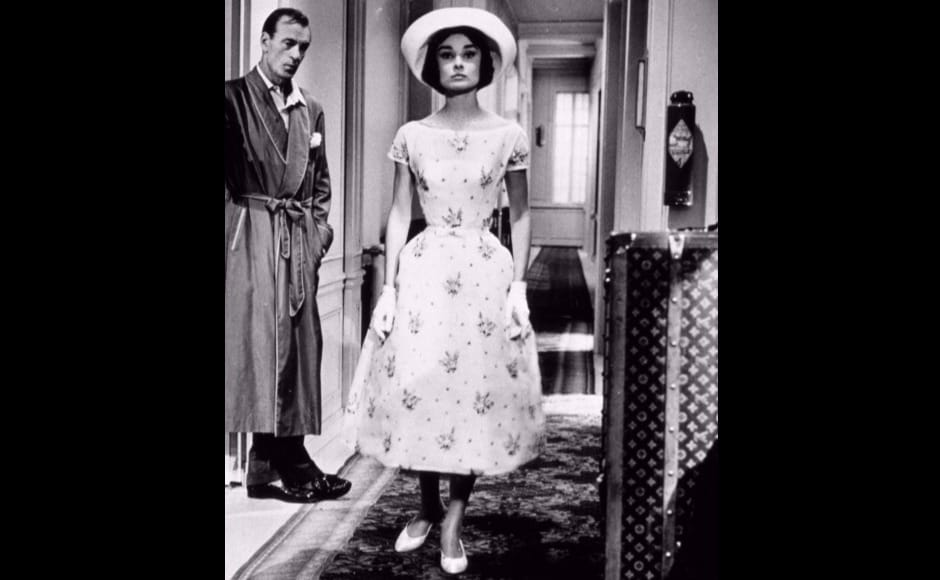 Audrey Hepburn wears Givenchy designs in Love In The Afternoon.