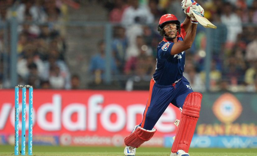 Mayank Agarwal plays a shot during the 2016 IPL when he was playing for Delhi Daredevils. AFP