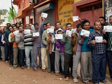 File image of voters queuing up for Nagaland polls. PTI