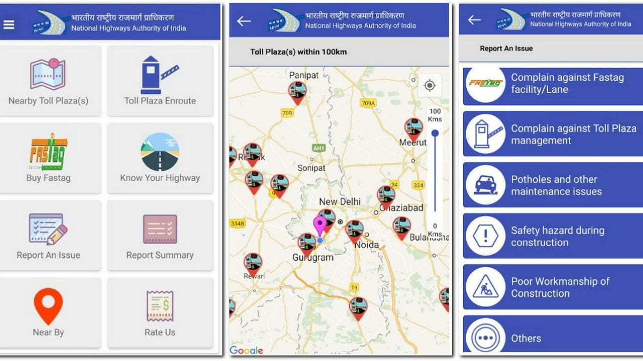 NHAI has come with a SukhadYatra app. Google Play Store.