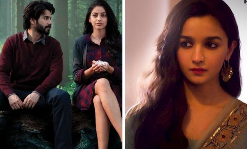 Varun Dhawan in October and Alia Bhatt in Raazi/Image from Twitter.