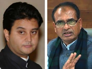 File image of Jyotiraditya Scindia and Shivraj Singh Chouhan. AFP