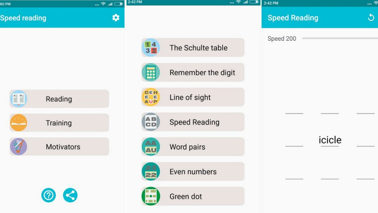 Speed Reading is an app to help you read fast