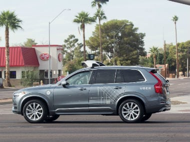Uber's self-driving car kills a pedestrian in Arizona who was crossing the road