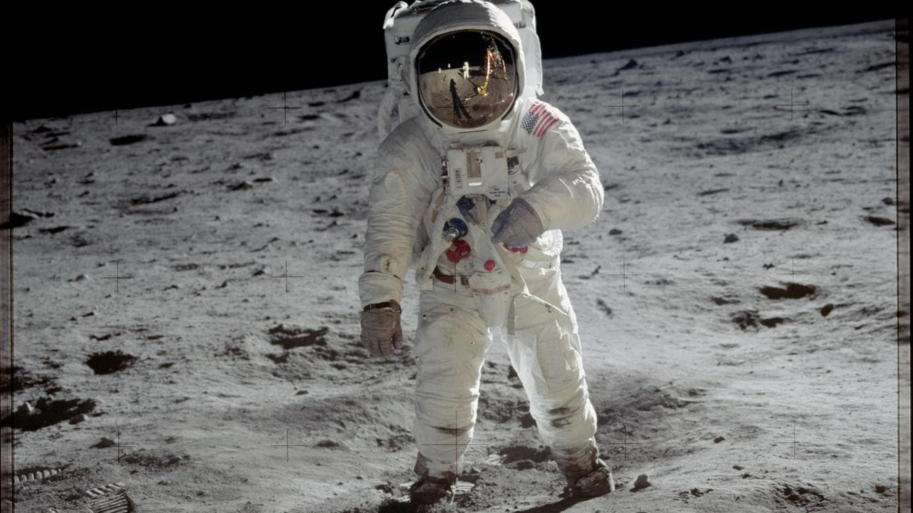 Buzz Aldrin poses for the most famous other-world portrait of all time. Image credit: NASA