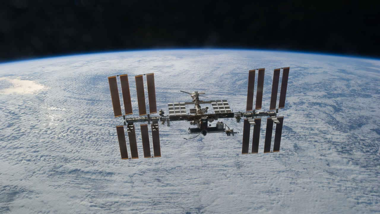 The International Space Station. Image credit: Wikipedia