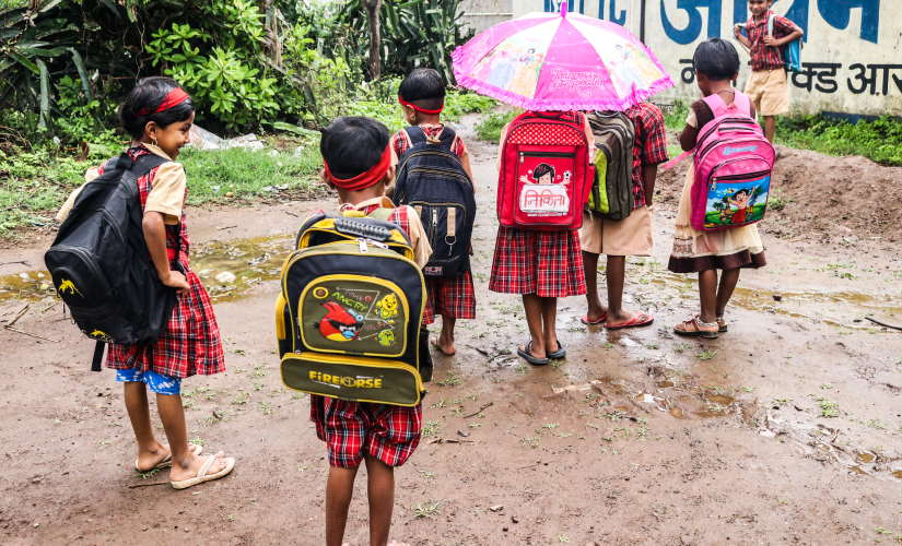 File Photo of a group of students returning from school