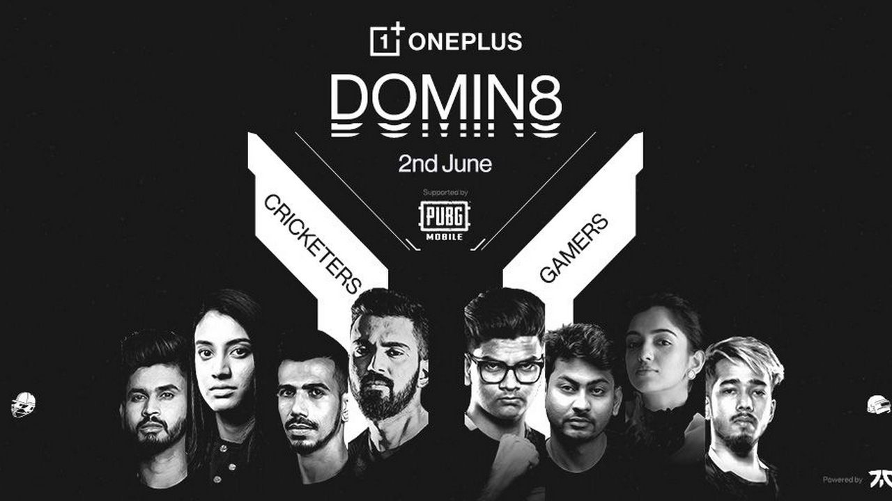OnePlus Domin8 PUBG Mobile Tournament with cricketers and Pro-Gamers to take place on 2 June