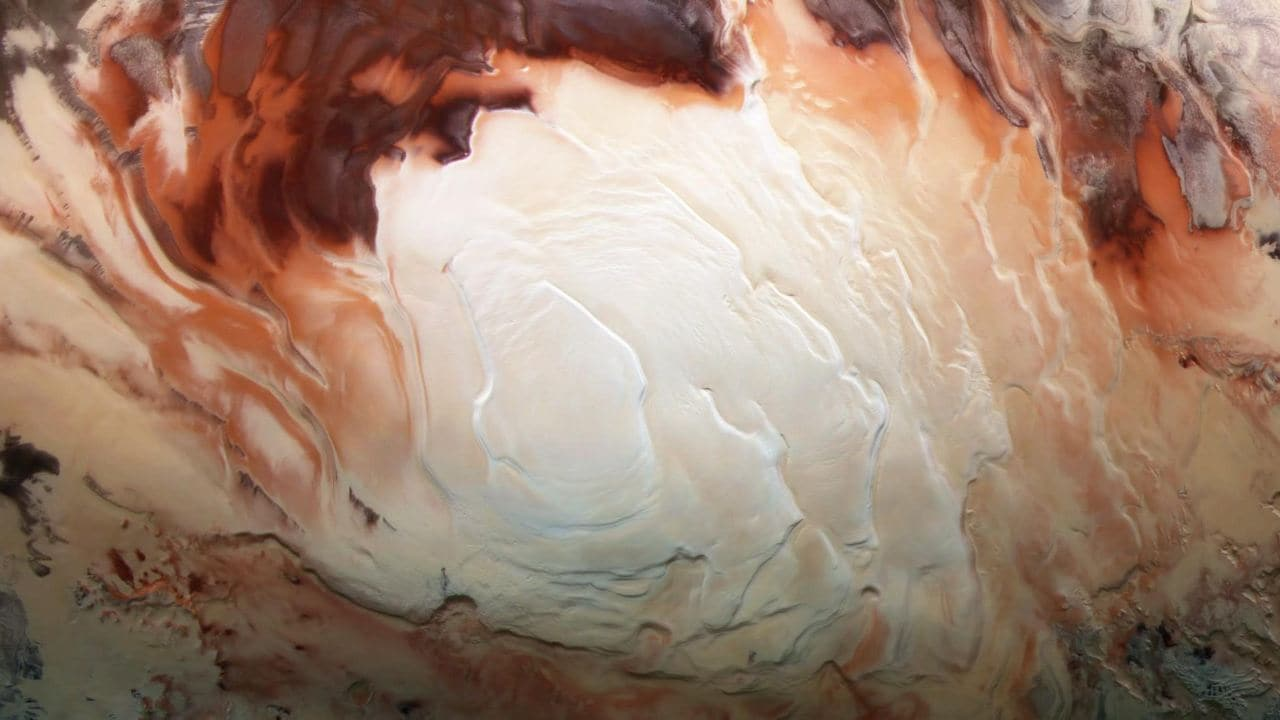 ESA's Mars Categorical Finds Liquid Water Buried Beneath Mars Ice