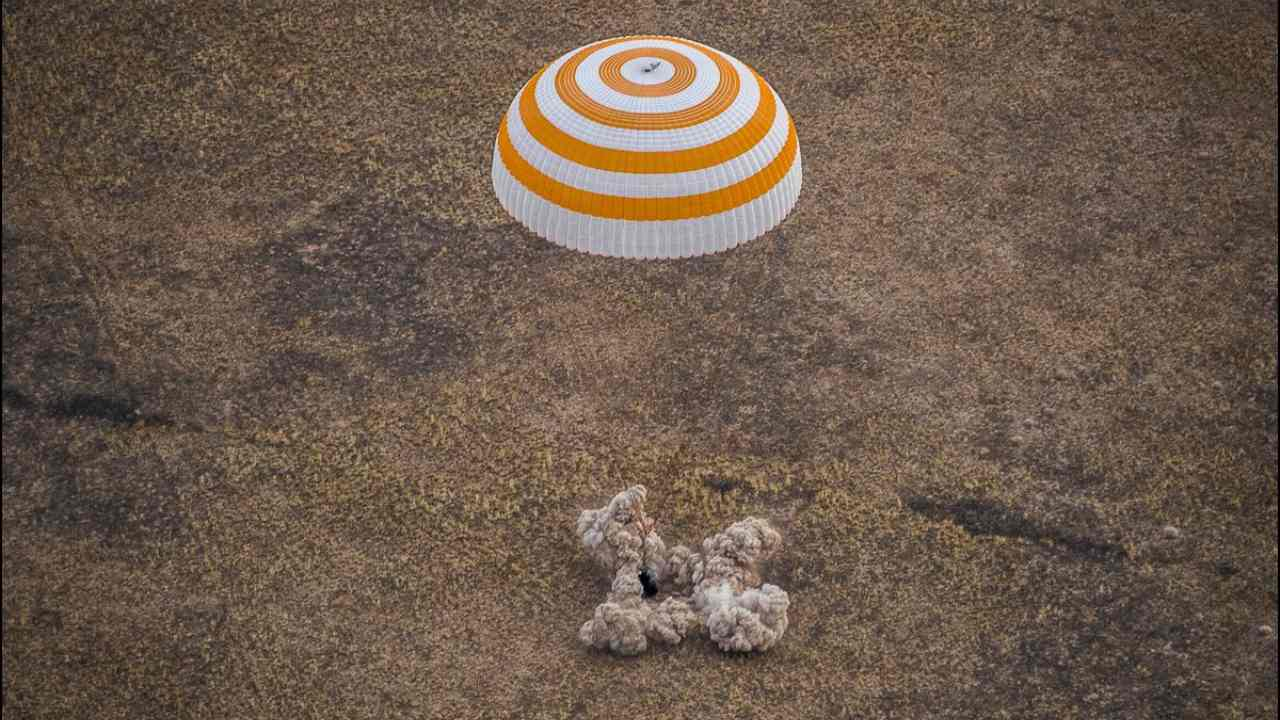 US, Russian trio return to Earth after six months on ISS