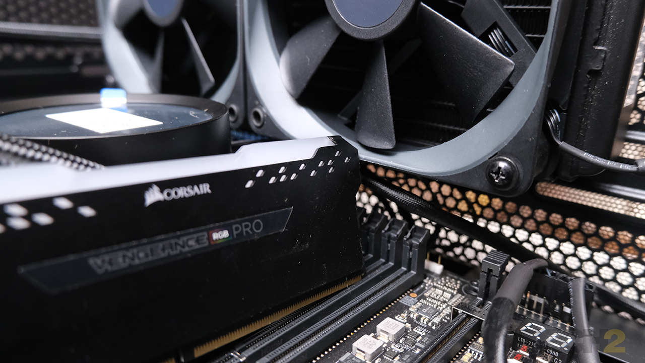 4.Larger RAM modules simply don't fit under a top-mounted radiator. Image: Anirudh Regidi