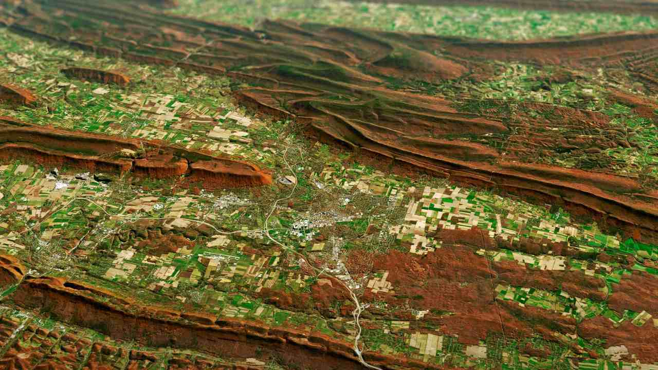 The folded mountains of central Pennsylvania were past peak leaf-peeping season but still colourful when the Landsat 8 satellite passed over on 9 November 2020. The region of rolling hills and valleys is part of a geologic formation known as the Valley and Ridge Province that stretches from New York to Alabama. These prominent folds of rock were mostly raised up during several plate tectonic collisions and mountain-building episodes in the Ordovician Period and later in the creation of Pangea—when what is now North America was connected with Africa in a supercontinent. Those events created the long chain of the Appalachians, one of the oldest mountain ranges in the world. The Appalachians once stood as tall at the Rockies and Alps, but hundreds of millions of years of erosion have worn them down. Image Credits: NASA Earth Observatory images by Joshua Stevens,