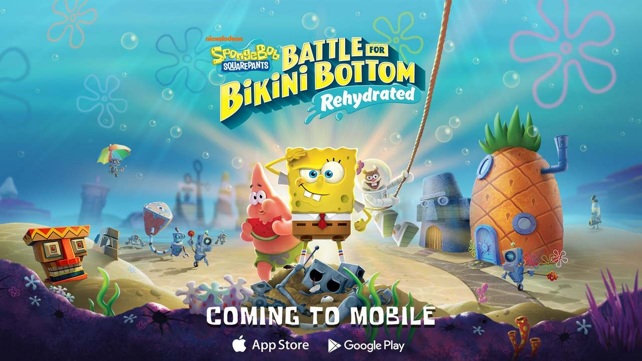 Spongebob Squarepants: Battle for Bikini Bottom – Rehydrated will soon be playable on both Android and iOS mobile