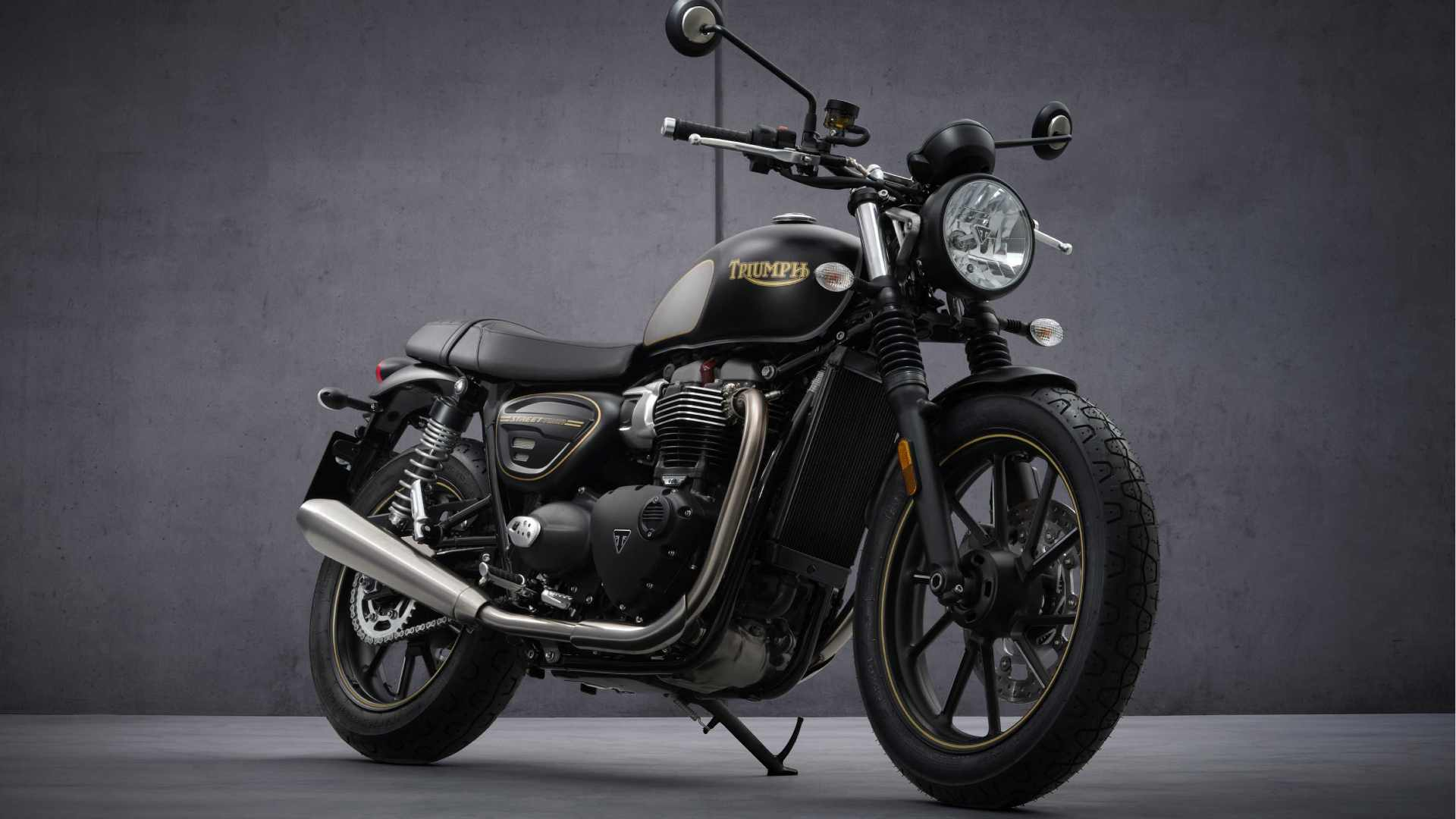 Just 1,000 examples of the Triumph Street Twin Gold Line edition will be built. Image: Triumph Motorcycles