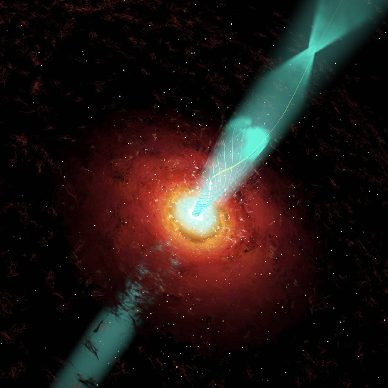 DST astronomers trace huge optical flare from supermassive black hole discovered in the 1960s