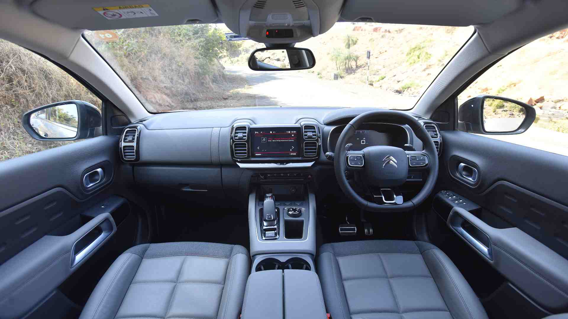 The C5 Aircross' interior has some feel-good bits, but it's not exactly luxurious. Image: Overdrive/Anis Shaikh