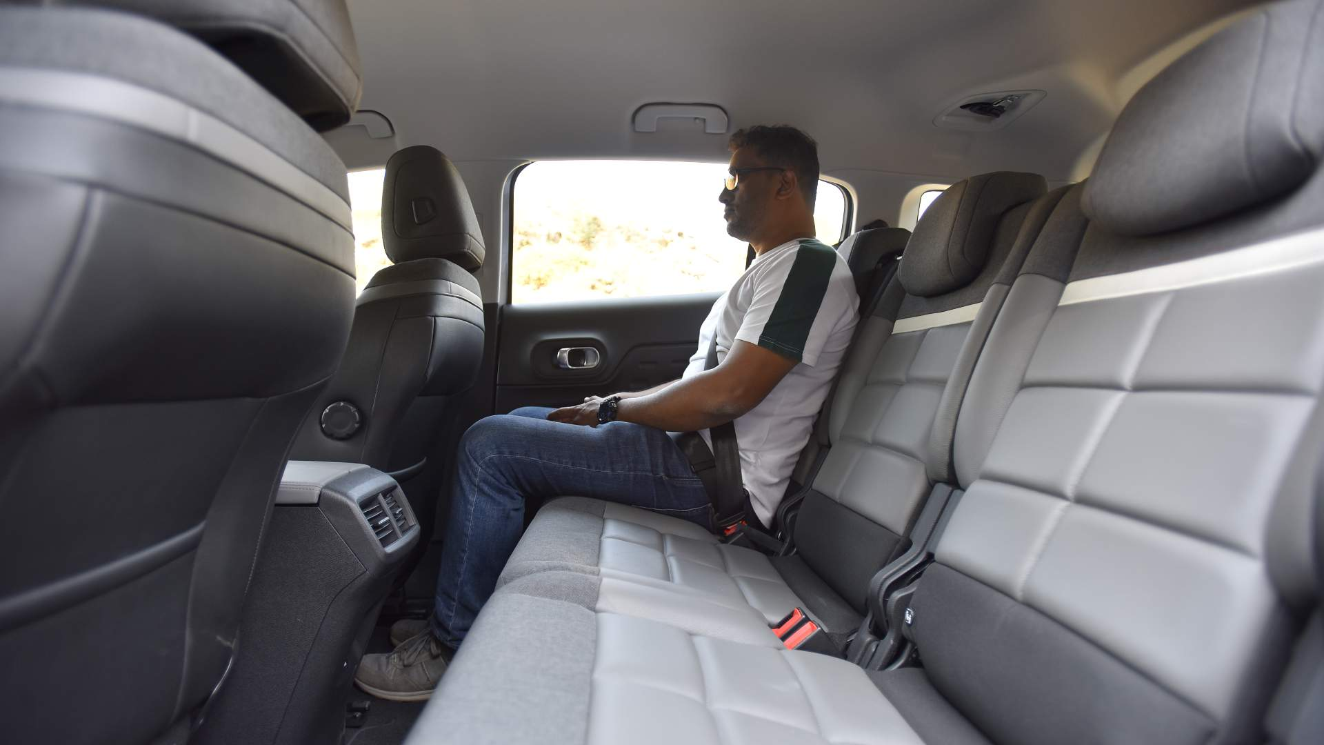 Three-abreast in the back seat of the C5 will be more comfortable than in any other SUV in this class. Image: Overdrive/Anis Shaikh