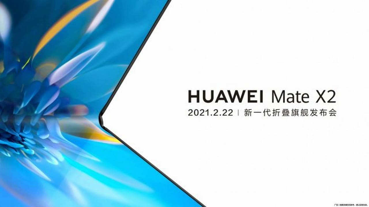 Huawei Mate X2 with a notebook-like folding design to launch in China today: All we know so far