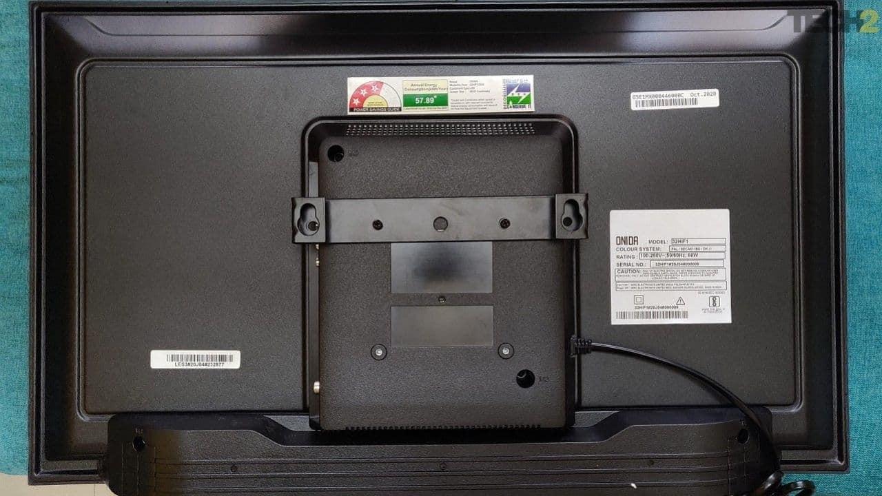 Onida 32HIF Fire TV Edition Smart TV comes with an option for a wall mount. Image: tech2/Ameya Dalvi