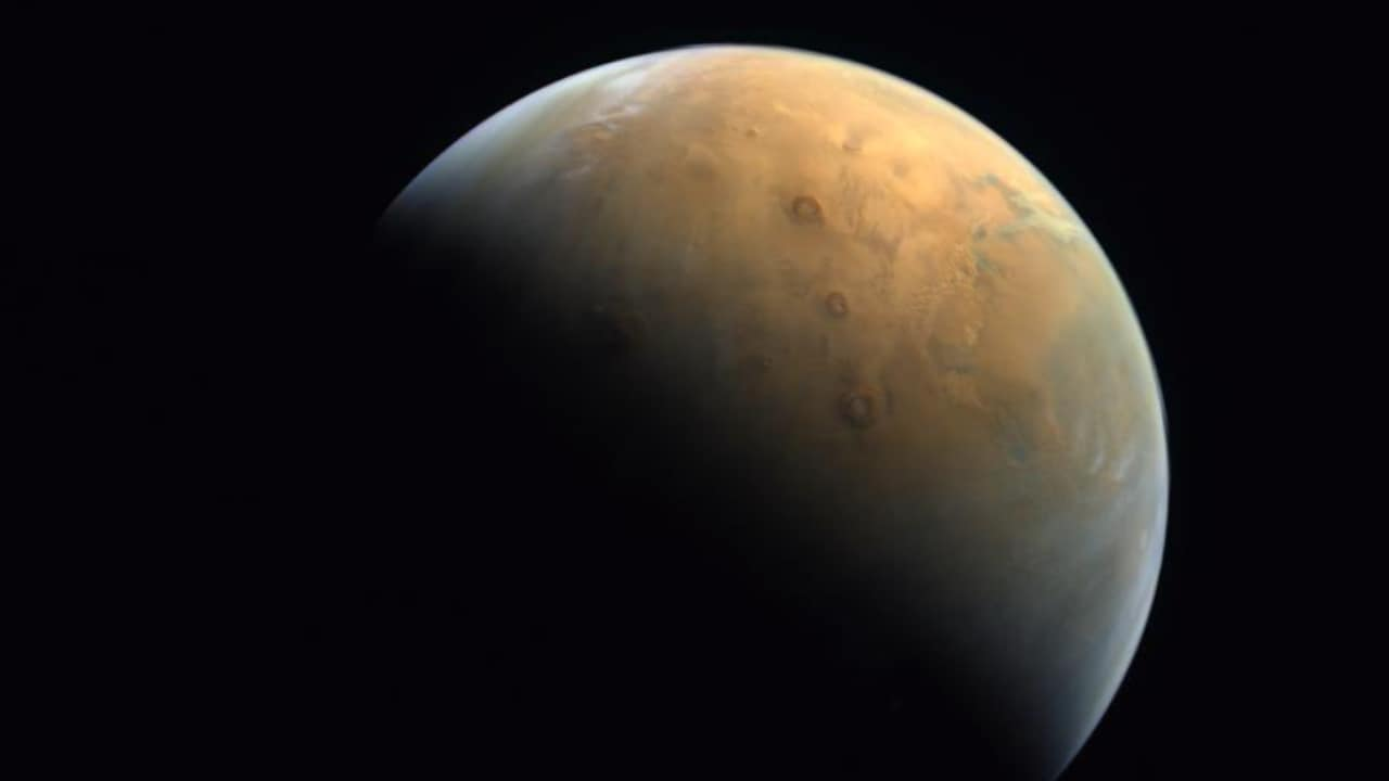 UAEs Hope probe sends back first image of the Red Planet after entering the orbit