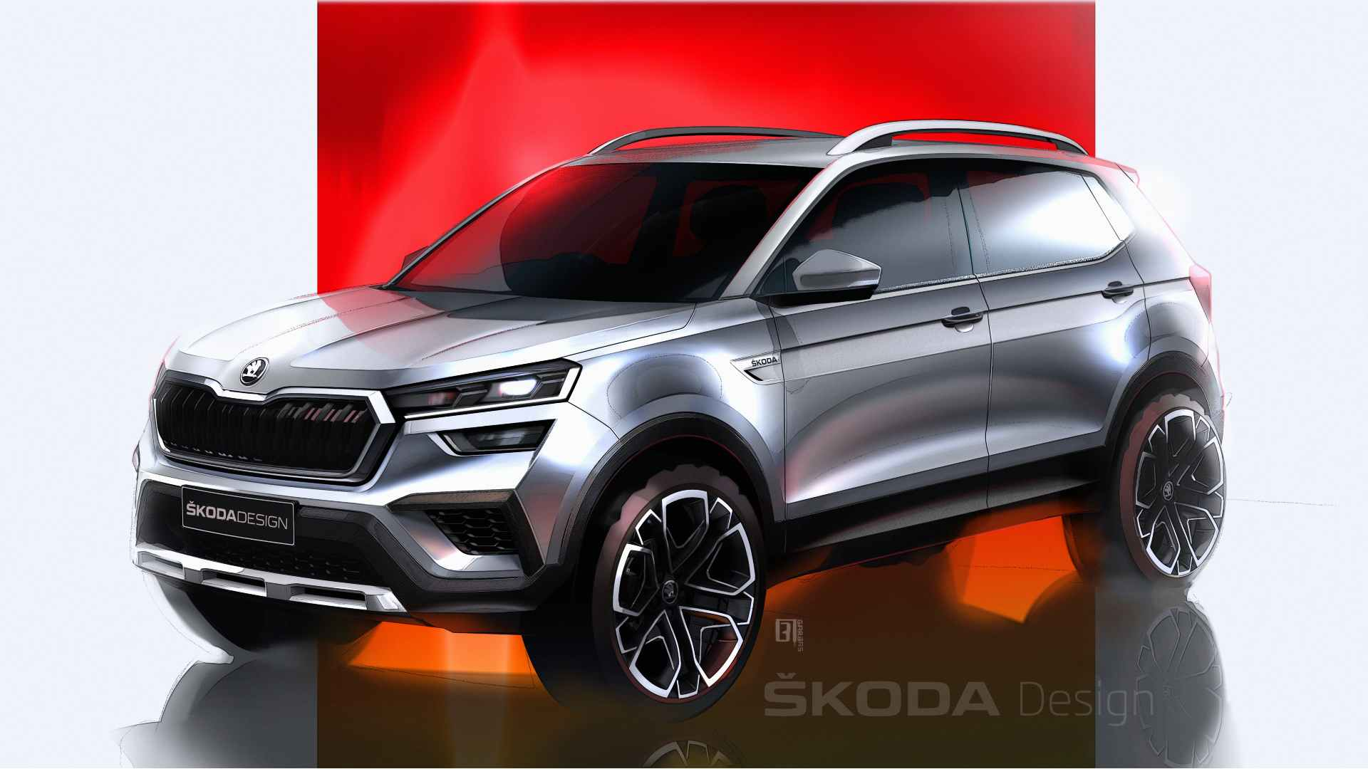 Skoda Kushaq previewed in official sketches ahead of world premiere on 18 March