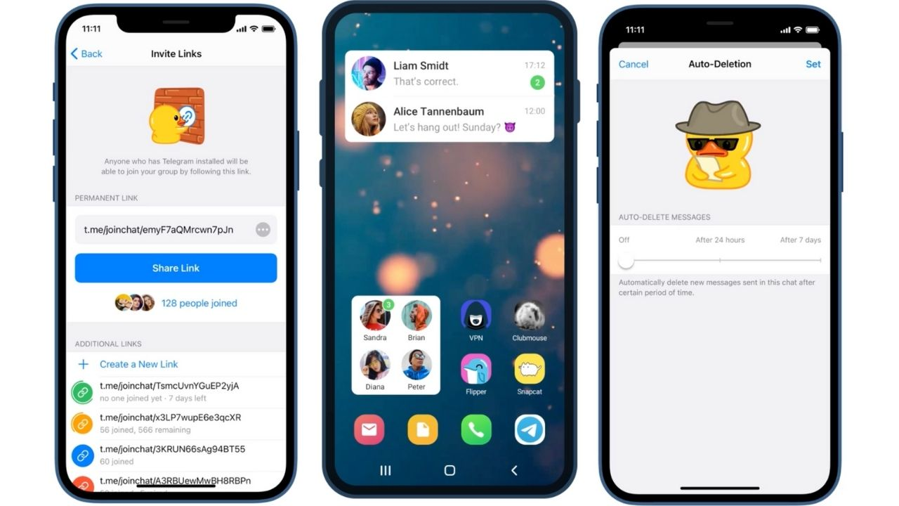 Telegram update brings features like home screen widgets, auto-delete, and more
