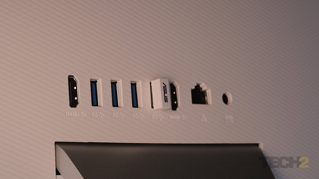 Four USB 3.0 ports, an HDMI in and an HDMI out, and an Ethernet jack are great to have, but where's the USB-C port? Image: Anirudh Regidi