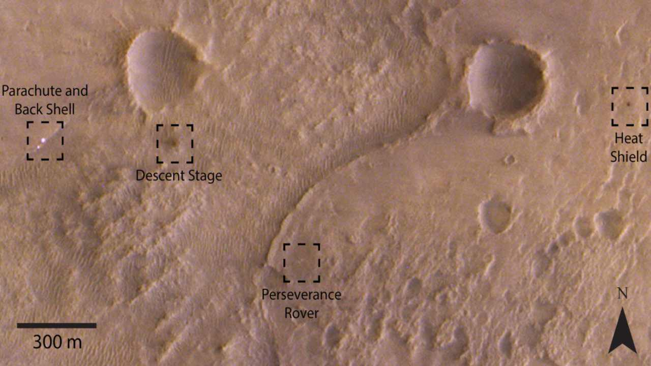 ESAs Trace Gas Orbiter, NASAs HiRISE catch stunning glimpses of Perseverance rover on Mars
