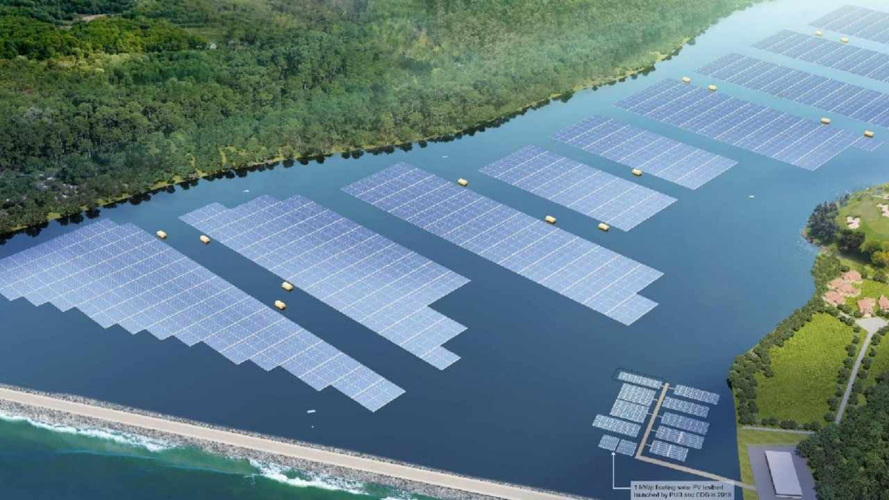 Space-starved Singapore builds huge floating solar farms in push for renewable power
