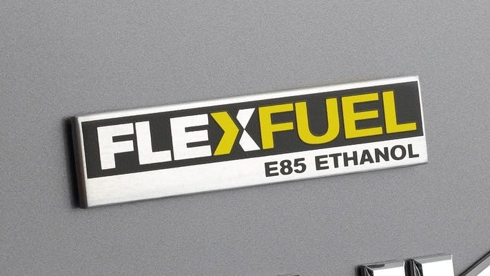 Flex-fuel vehicles run on a blend of petrol and up to 85 percent ethanol. Image: GMC