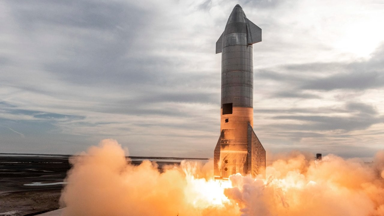 SpaceX's Starship rocket is fired up for launch test. Image credit: SpaceX