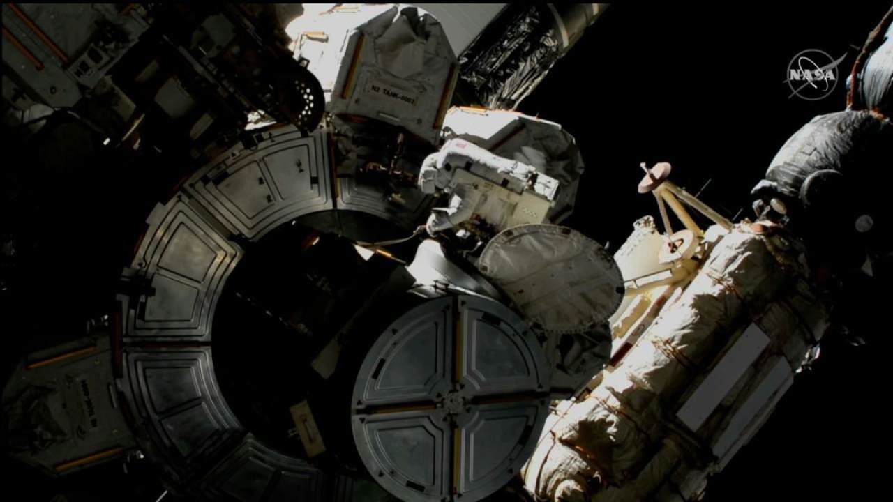Astronauts take safety measures after exposure to toxic ammonia during spacewalk