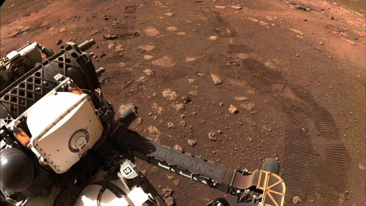 NASA's Perseverance rover hits dusty red road, makes its first 21-feet journey on Mars