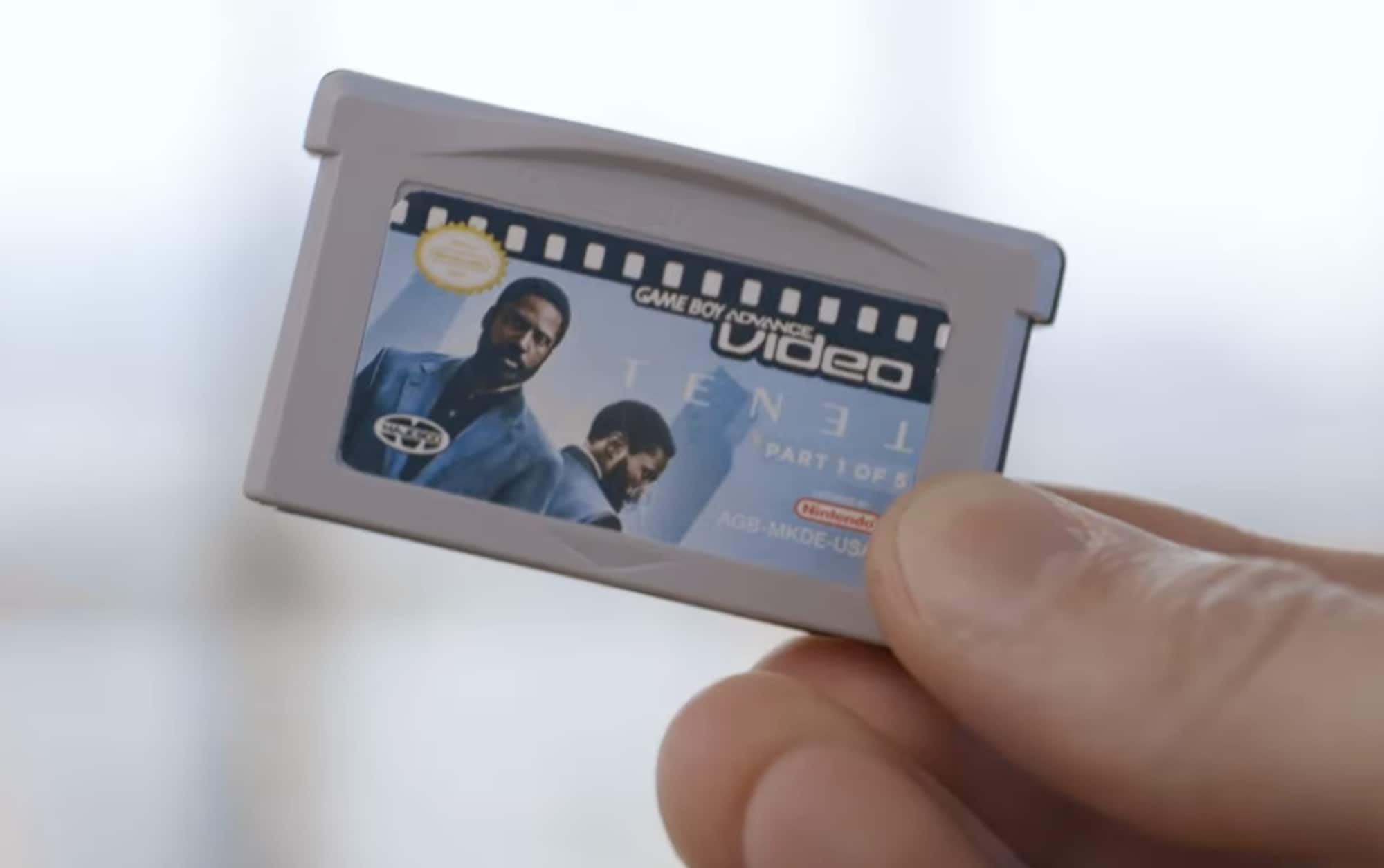 A YouTuber split up the movie Tenet across five Game Boy Advance cartridges to experience the move in the worst way possible