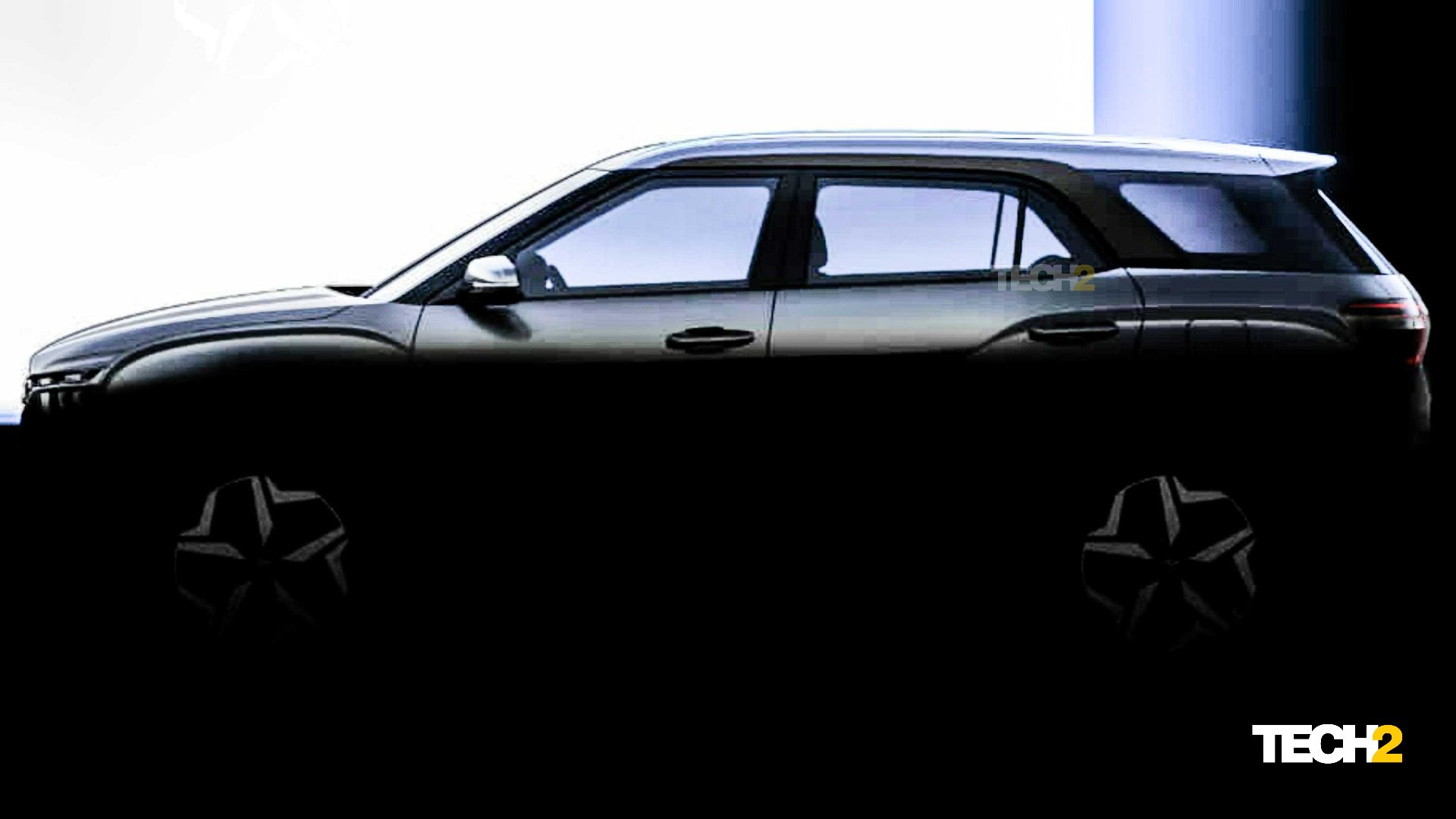 The Hyundai Alcazar's pillars have been blacked out to provide a 'floating roof' effect. Image: Hyundai