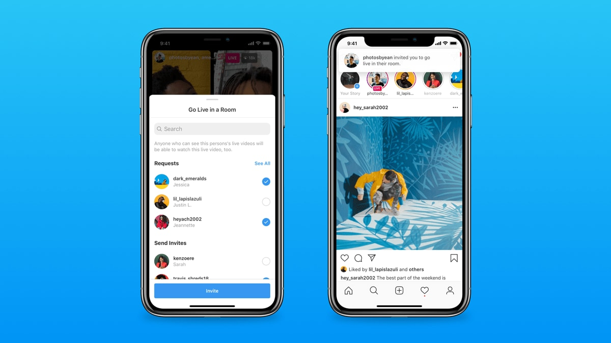 How to start off with Instagram Live Room. Image: Instagram