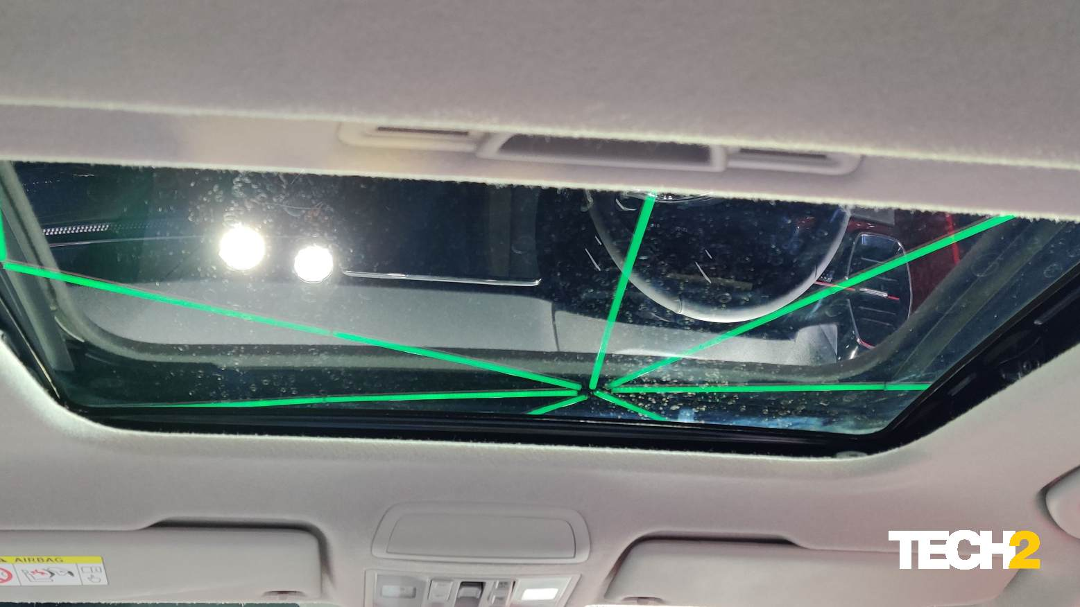 The Skoda Kushaq gets a standard-size electric sunroof, not a panoramic one. Image: Tech2/Amaan Ahmed