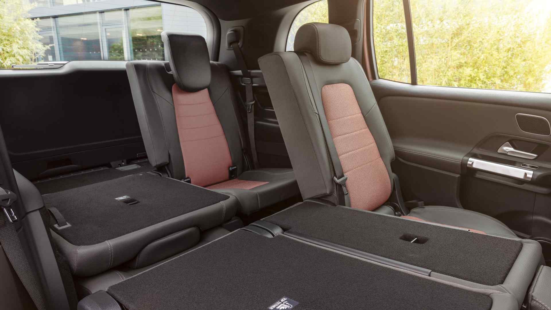 The third row of the Mercedes-Benz EQB can accommodate children or adults of up to five feet, four inches in height. Image: Mercedes-Benz