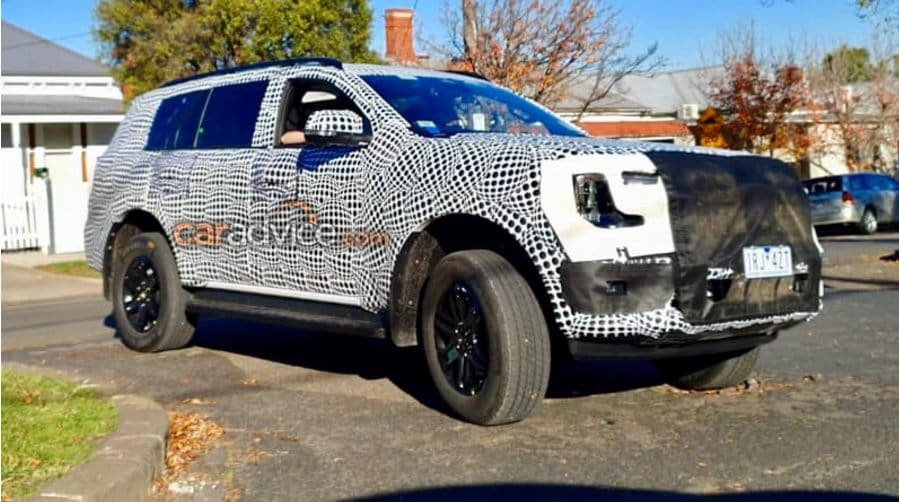 While it will continue with its ladder-frame construction, the 2022 Ford Endeavour will feature several chassis upgrades. Image: CarAdvice