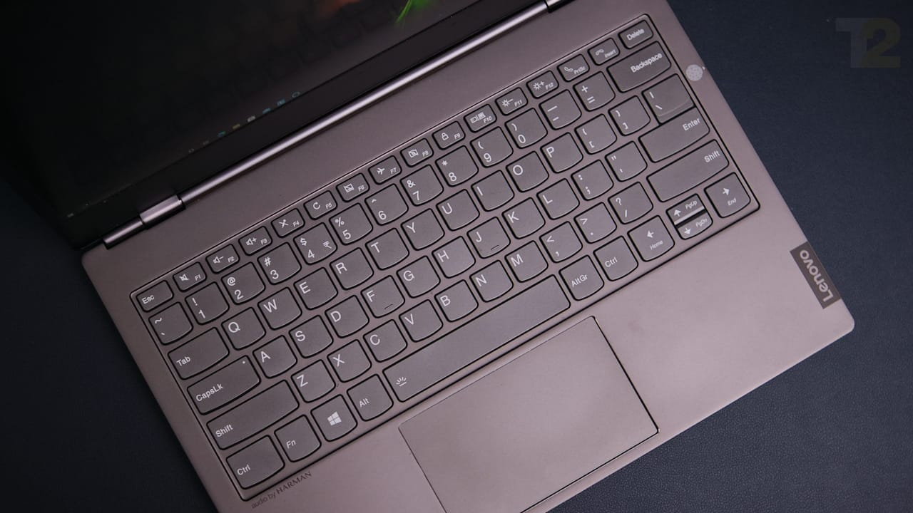 The one unassailable feature of the ThinkBook Plus is its keyboard. Image: Anirudh Regidi