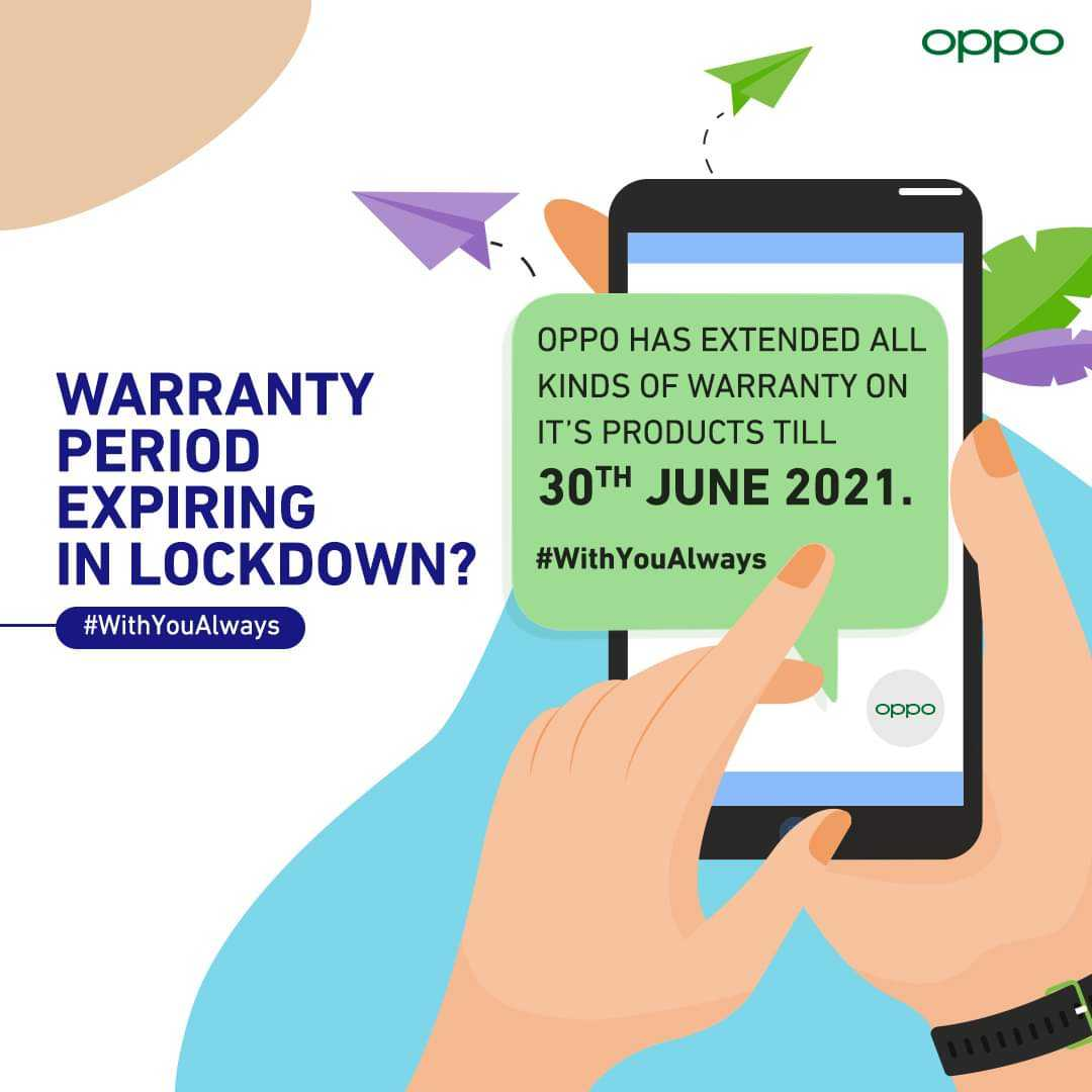 Oppo extends warranty on its products.