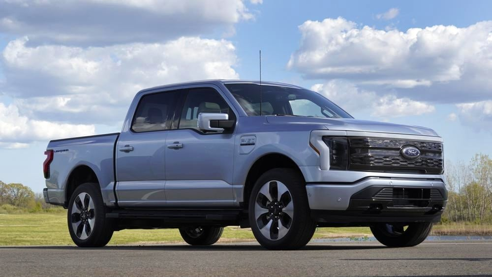 The Ford F-150 Lightning produces 1,050 Nm of torque - the highest torque output of any F-150 model till date. Image: AP Photo/Paul Sancya