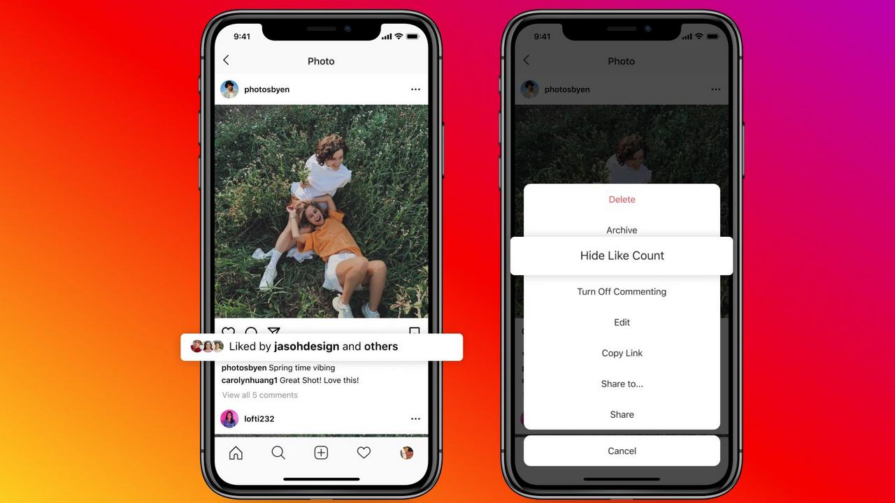Instagram users can niw hide like counts on their posts. Image: Instagram