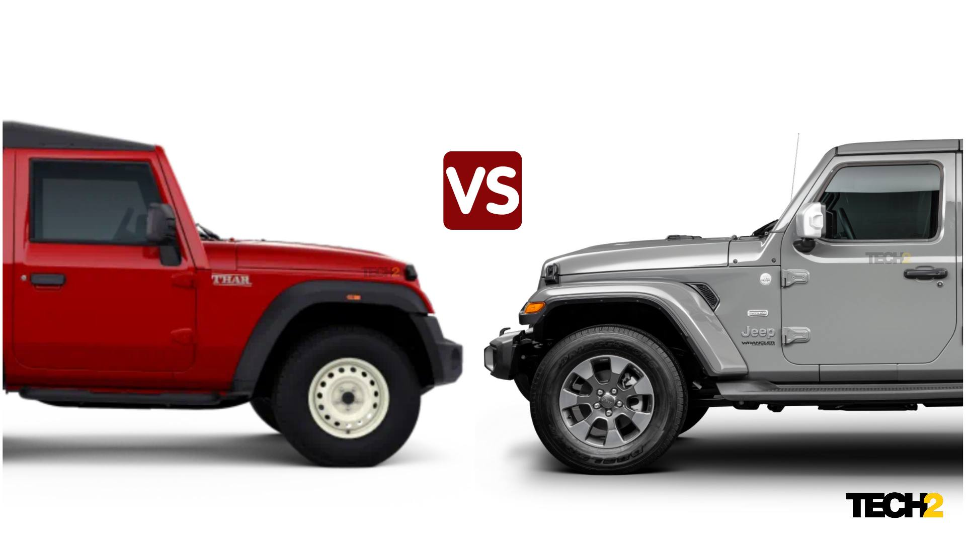 In visual terms, the second-gen Mahindra Thar is closely linked to the iconic Jeep Wrangler. Image: Tech2/Amaan Ahmed
