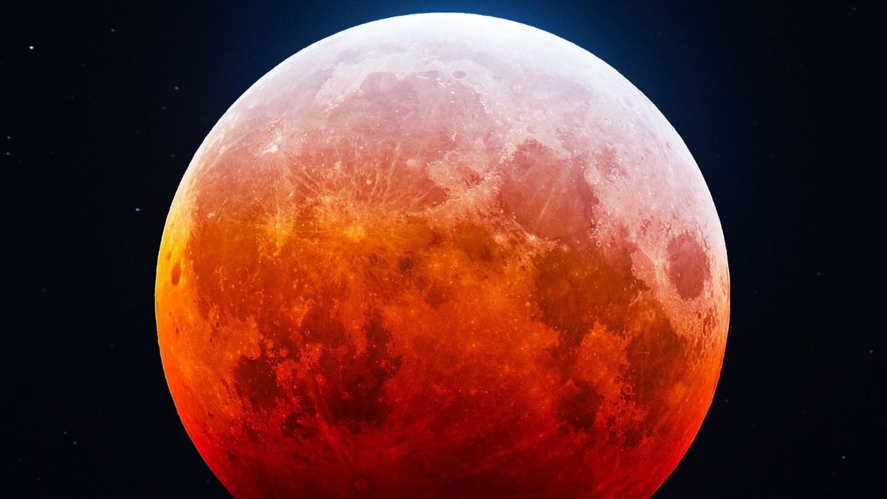 Aerospace engineer and astrophotographer Bray Falls captured the blazing red moon. Image credit: Twitter @astrofalls