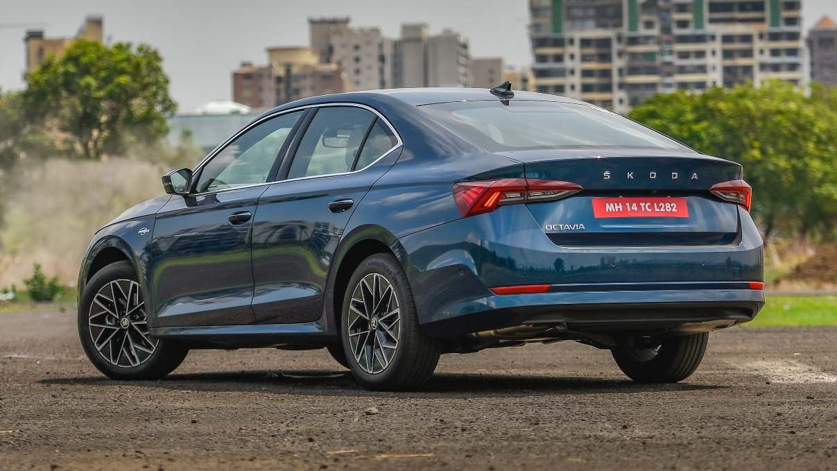 The tail of the 2021 Skoda Octavia is reminiscent of some Volvo models. Image: Overdrive/Anis Shaikh