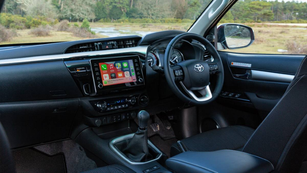 The Toyota Hilux's hard-wearing interior is expected to have the same features as the Fortuner. Image: Toyota